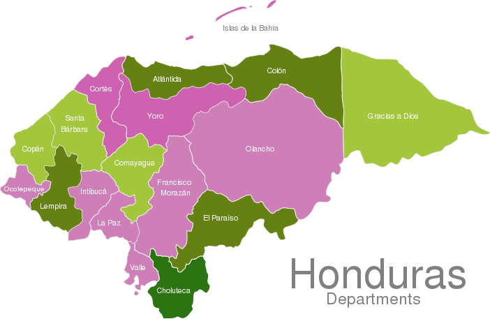 Honduras Departments Interactive Javascript Map Javascriptmapcom - Hondurus map