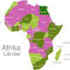 Map African Countries Agypten