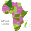 Map African Countries Algerien