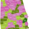 Map Alabama Counties Barbour