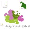 Map Antigua And Barbuda Towns Barbuda