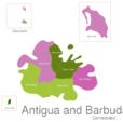 Map Antigua And Barbuda Towns Redonda