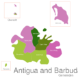 Map Antigua And Barbuda Towns Saint_George