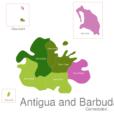 Map Antigua And Barbuda Towns Saint_John