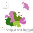 Map Antigua And Barbuda Towns Saint_Mary