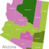 Map Arizona Countys Coconino