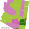 Map Arizona Countys Graham