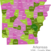 Map Arkansas Countys Arkansas