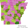 Map Arkansas Countys Ashley