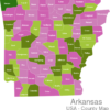 Map Arkansas Countys Benton