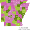 Map Arkansas Countys Boone