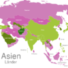 Map Asia Countries Afghanistan