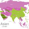Map Asia Countries Bahrain