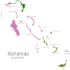 Map Bahamas Islands Abaco