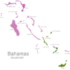 Map Bahamas Islands Acklins