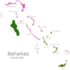 Map Bahamas Islands Andros