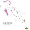 Map Bahamas Islands Cat_Island