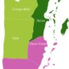 Map Belize Districts Belize