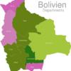 Map Bolivia Departments Chuquisaca