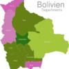 Map Bolivia Departments Cochabamba