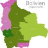 Map Bolivia Departments Oruro
