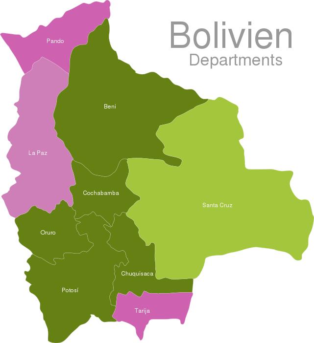 Bolivia Departments