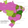 Map Brazil States Bahia