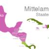 Map Central America Countries Aruba