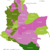 Map Colombia Departments Amazonas