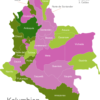 Map Colombia Departments Antioquia