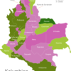 Map Colombia Departments Arauca