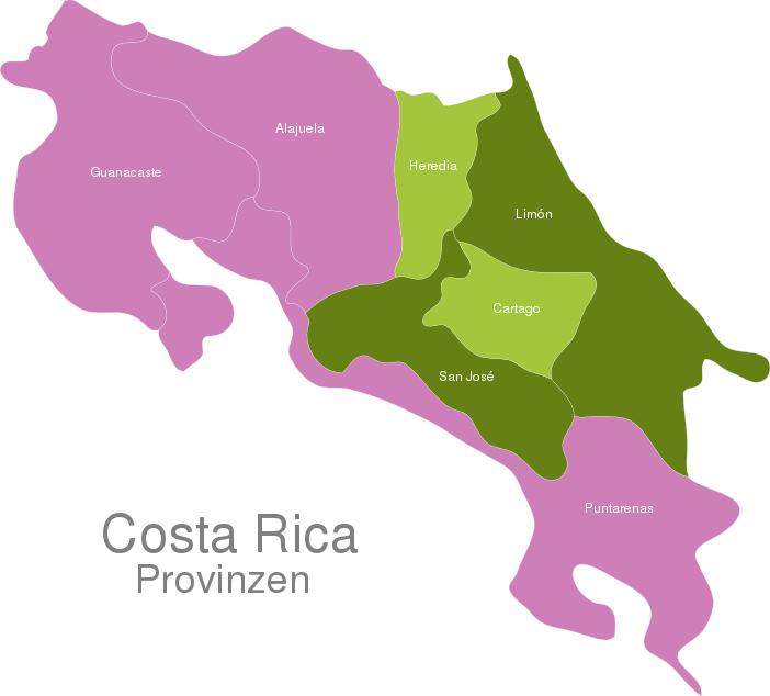 Costa Rica Provinces
