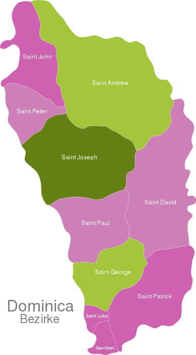 Dominika Districts