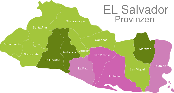 El Salvador Provinces