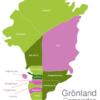Map Greenland Municipalities Ilulissat