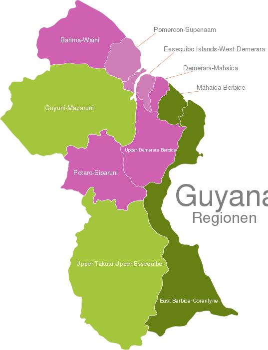 Guyana Regions