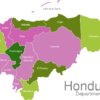 Map Honduras Departments Comayagua