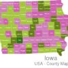 Map Iowa Countys Adair