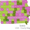 Map Iowa Countys Adams