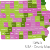 Map Iowa Countys Allamakee