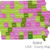 Map Iowa Countys Appanoose