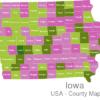 Map Iowa Countys Audubon