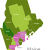 Map Maine Countys Franklin