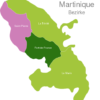 Map Martinique Districts Fort-de-France