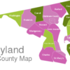Map Maryland County Map Allegany