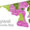 Map Maryland County Map Baltimore_City