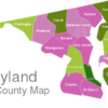 Map Maryland County Map Calvert