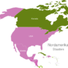 Map North America Countries Aruba