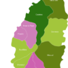 Map Saint Lucia Districts Castries