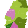 Map Saint Lucia Districts Choiseul